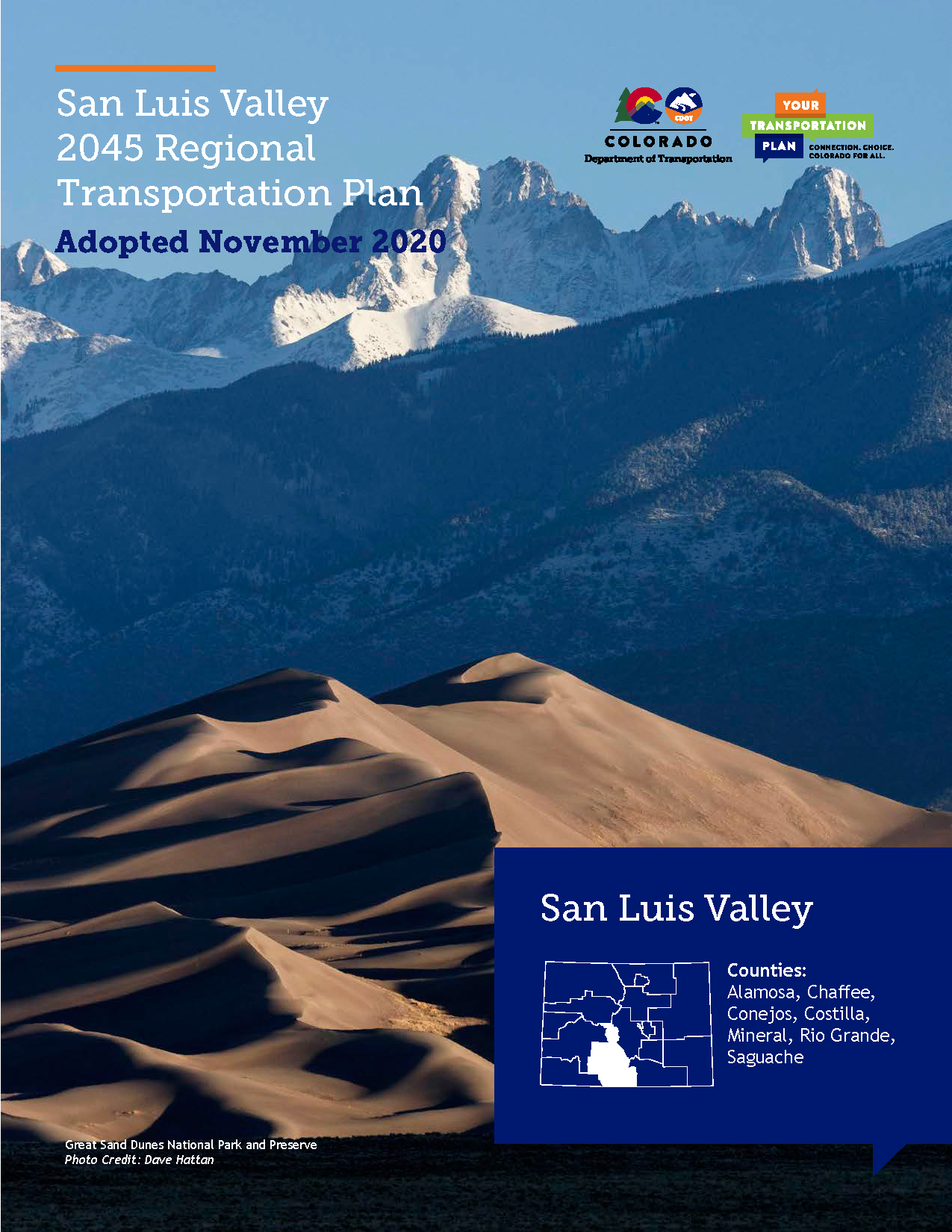 San Luis Valley Regional Transportation Plan 2045 Cover