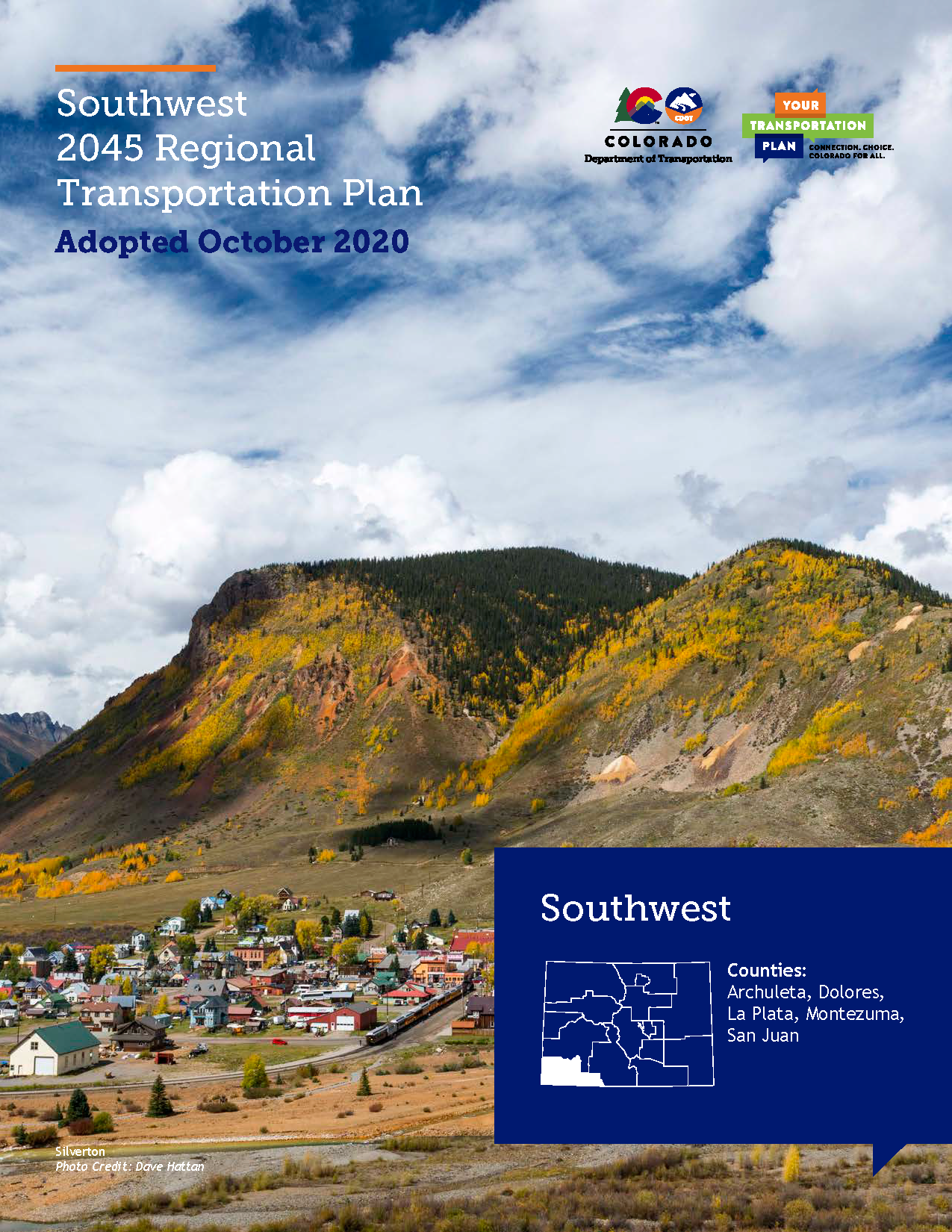 Southwest Regional Transportation Plan 2045 Cover