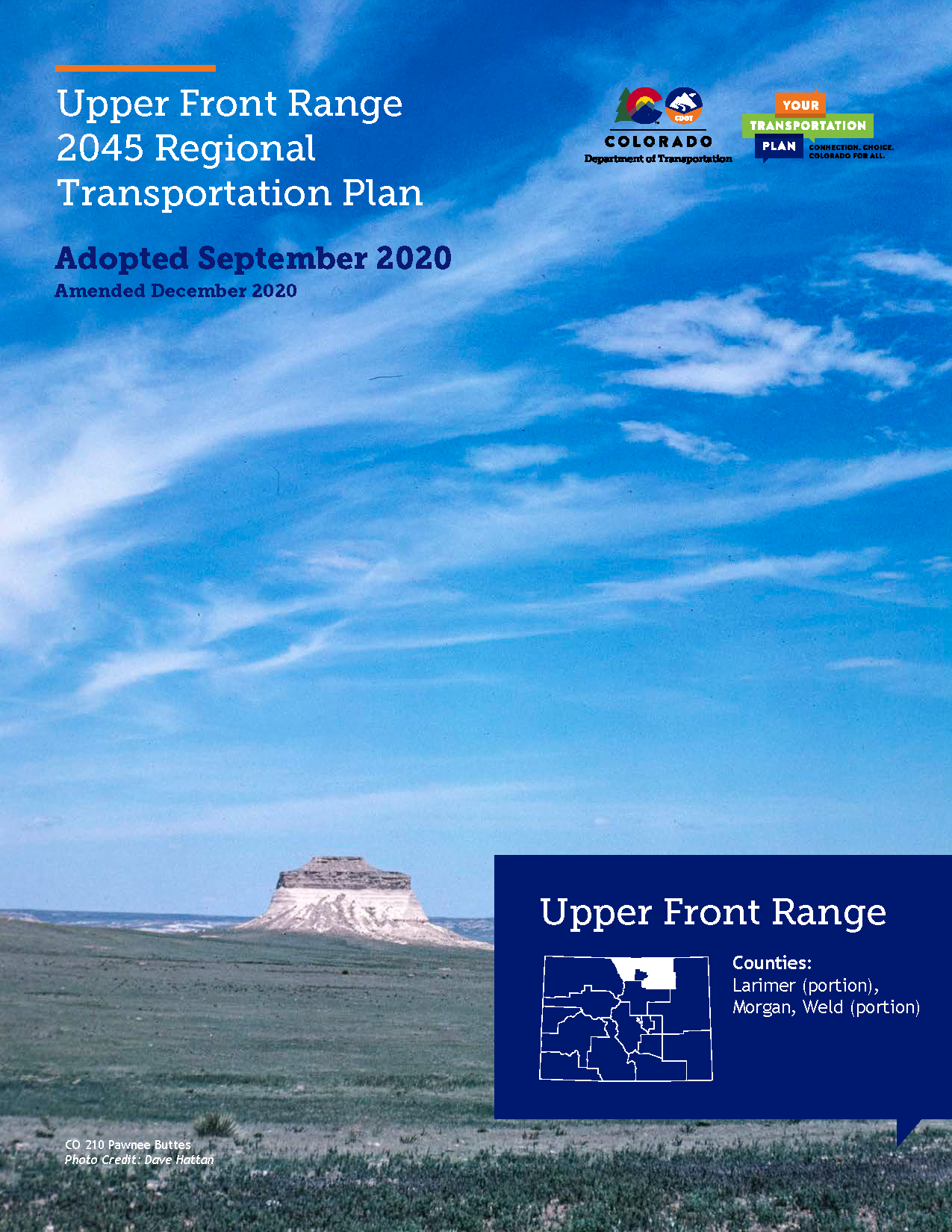 Upper Front Range Regional Transportation Plan 2045 Cover