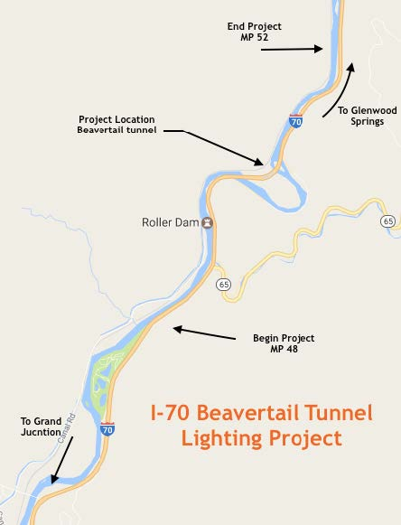 I-70 Beavertail Tunnel Lighting Replacement