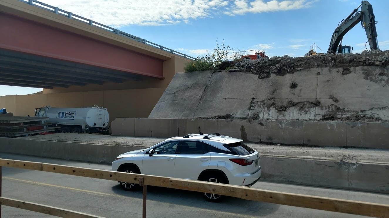 I-25 Crossroads progress September 2017