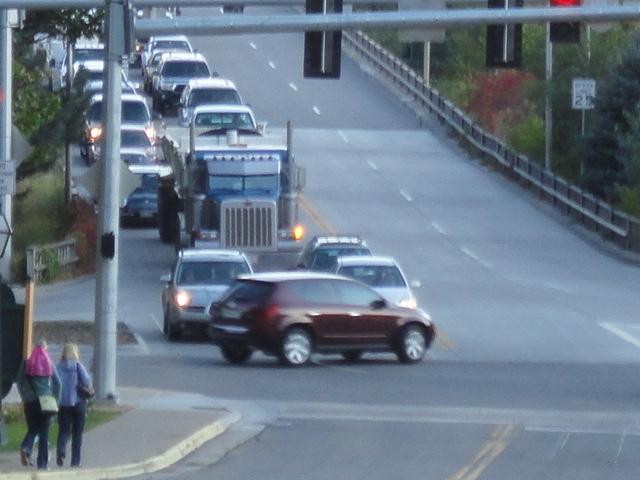 Truck both lanes on bridge - 1 detail image