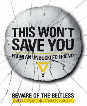 Beware of the Beltless Bus Shelter banner 1 detail image