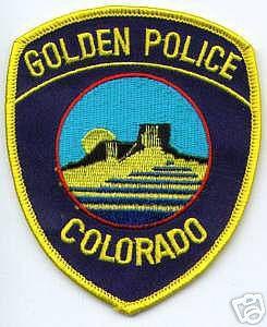 Golden Police Department logo detail image