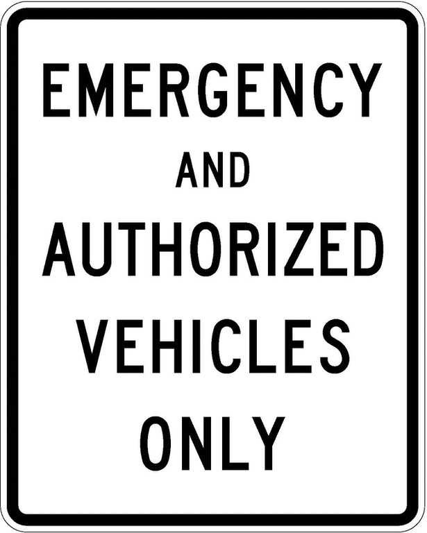 R11-50 Emergency And Authorized Vehicles Only JPEG