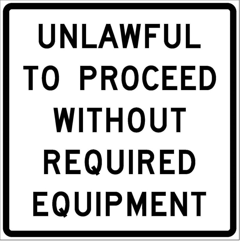 R52-10c Unlawful To Proceed Without Required Equipment JPEG