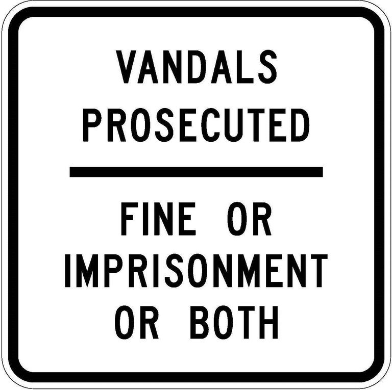 R52-2 Vandals Prosecuted - Fine Or Imprisonment Or Both JPEG