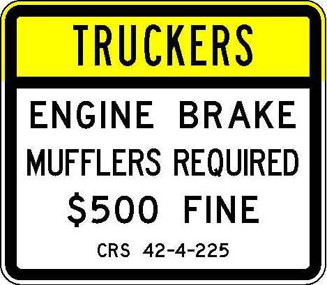R52-7 Truckers - Engine Brake Mufflers Required $500 Fine JPEG