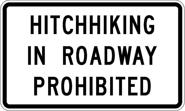R9-4b Hitchhiking In Roadway Prohibited JPEG