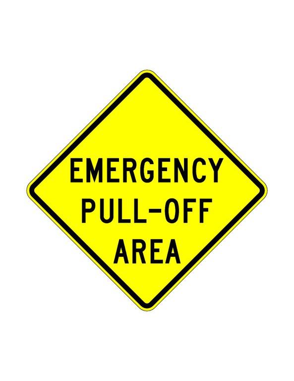 W11-30 Emergency Pull-Off Area JPEG