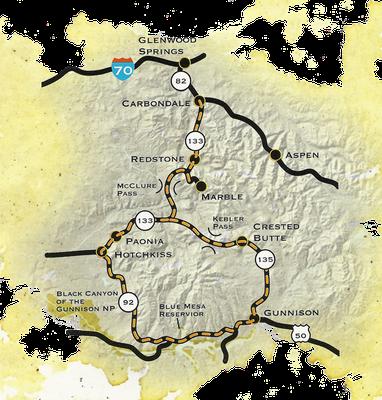 West Elk Loop Map